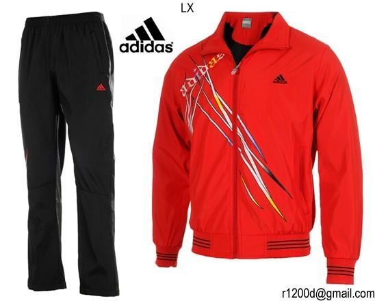 jogging femme rouge adidas